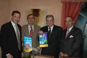 Me, Club Pres. George Dallal, Past DG Samir Seikaly and Nader in Amman, Jordan